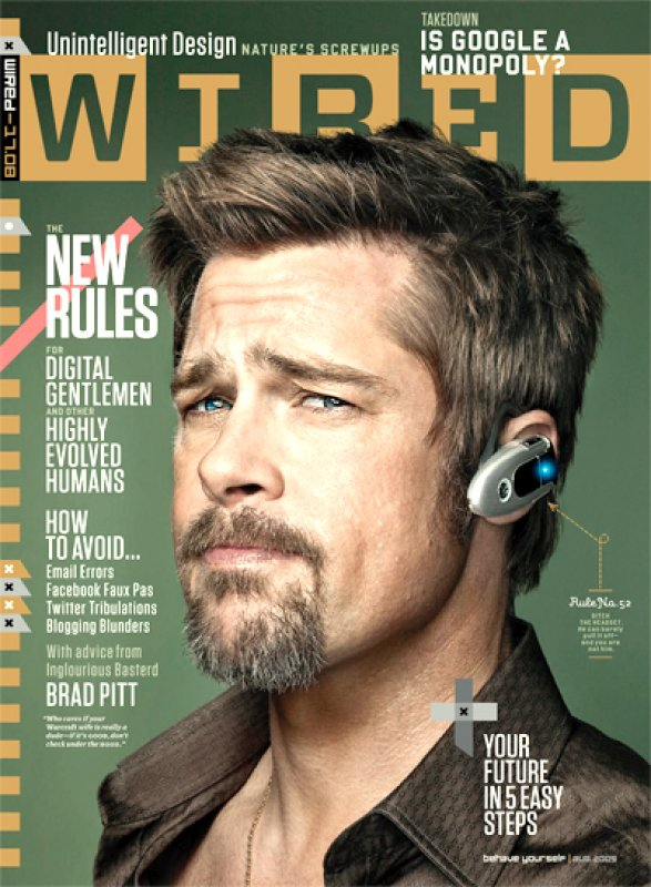 Брад Пит за Wired Magazine
